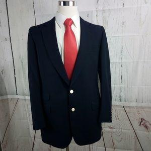 Burberry 40R Suit Blazer Sports Coat Navy Blue